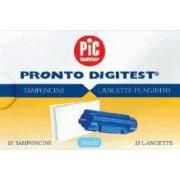 Artsana Spa Lancette Pungidito Sterili Pronto Digitest + Tamponcino Assorbente Per Test Glicemia Diametro Ago Gauge28 25 Lancette + 25tamponi