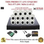 Cp Plus 1 MP HD 16CH DVR + Cp plus HD DOME IR CCTV Camera 14Pcs + 1TB HDD +POWER SUPLAY + BNC + DC