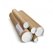 Brown cardboard postal tubes, 76.2x686mm, pack of 20