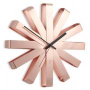 Стенен часовник Umbra Ribbon, цвят мед