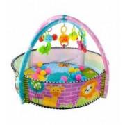 Set joc interactiv pentru bebelusi tip piscina cu diverse jucarii incluse 90x60cm