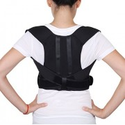 BraceUP Deluxe Adjustable Posture Corrector and Clavicle Support Brace to Improve Bad Posture, Upper Back Pain Relief and Shoulder Alignment (L/XL)