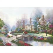 M C G Textiles Thomas Kinkade Beyond Spring Gate Embellished Cross Stitch Kit, 12 by 16-Inch
