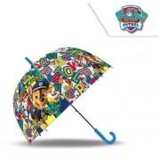Mancs őrjárat átlátszó esernyő fiúknak