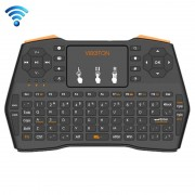 Viboton i8 Plus draadloos 2.4GHz QWERTY mini toetsenbord met Touchpad voor TV Box Computer Tablet Laptop en Projector (zwart)