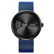 Sinobi Męski zegarek Sinobi z szafirowym szkiełkiem - niebieska bransoleta