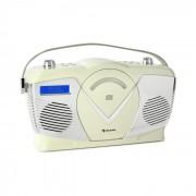 RCD-70 DAB Rádio CD Retro UKW DAB+ Leitor CD USB Bluetooth Creme