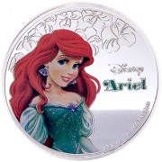 Disney Classics Coin Collection - Ariel Silver Plated Coin in Capsule Box