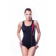 Shepa Dámské sportovní plavky Shepa 041 (B1D6) XXL černo-červená