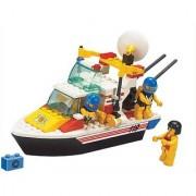Sluban Building and Construction Blocks M38-B3600 Rescue Boat Building Block Construction Set (114 Piece)
