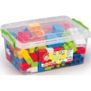 Cutie depozitare cu 85 cuburi DOLU Multicolor