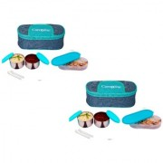 Sling Double Dekker 3 Container lunchbox 750 Ml Buy one get one Free