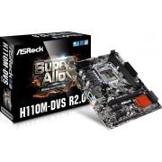Asrock H110M-DVS R2.0 LGA 1151 (Socket H4) Intel® H110 Micro ATX