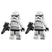 LEGO Star Wars Lot of 2 Minifigures - Stormtrooper Dark Blue Vents with Blaster Gun