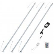 [in.tec] Tira de luz RGB LED aluminio - 3 x 100cm - 14,4W - 60 SMD - con fuente de alimentación y control remoto
