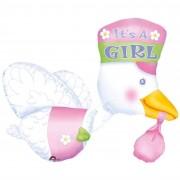 Anagram palloncino multiballoon cicogna girl