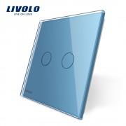 Panou intrerupator dublu din sticla LIVOLO Colorful