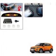 Auto Addict Car White Reverse Parking Sensor With LED Display For Hyundai Creta