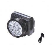 Lanterna frontala reincarcabila cu 9 LED-uri