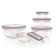 Set de doze din plastic Banquet, pentru alimente, 5 buc., violet