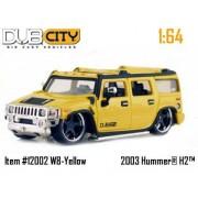 Jada Dub City Yellow 2003 Hummer H2 1:64 Scale Die Cast Truck