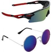 Zyaden Combo of 2 Sunglasses Sport and Round Sunglasses- COMBO 2762