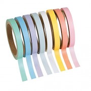 Pastel Solid Colors Washi Tape Set - 16 Ft. Of Tape Each Roll (8 Rolls Per Unit)