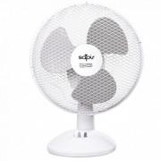 Настолен вентилатор SAPIR SP 1760 DC9, 19 W, 23 см, 2 степени на скоростта, Регулиране на наклона, Бял/сив