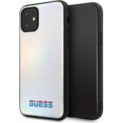 Husa Hard iPhone 11 Pro Max Iredescent Silver Pu Leather Guess
