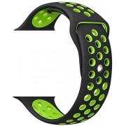 Wotchi Silikonový řemínek pro Apple Watch Černá/Zelená 38/40 mm