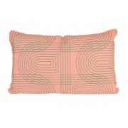 Pt Sierkussen Retro Grid rechthoek - Peach