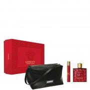 Versace Eros Flame Confezione 100 ML Eau de Parfum + 10 ML Eau de Parfum + Versace Trousse Man