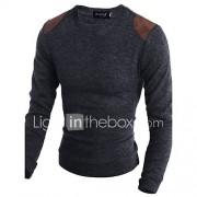 Heren Casual/Dagelijks Lang Pullover Dierenprint-Ronde hals Lange mouw Katoen Herfst Winter Medium Micro-elastisch
