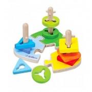 Encajable Puzzle De Madera Color Y Formas - Eichhorn