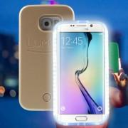Husa Lumee Leduri Samsung Galaxy S6 Edge Gold