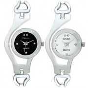 Crude Smart Combo Of Analog Watch-Rg504 with Stainless Steel Strap