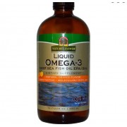Natures Answer Liquid Omega-3 Deep Sea Fish Oil EPA/DHA Natural Orange Flavor (480 ml) - Nature's Answer