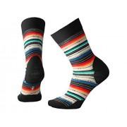 Smartwool Women's Margarita Sock, Black Multistripe Size M(Shoe Size 7-9.5)