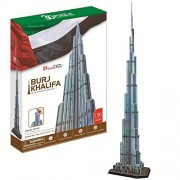 Burj Khalifa with Booklet About This Monument, 136 Piece 3d Jigsaw Puzzle Made By Cubicfun