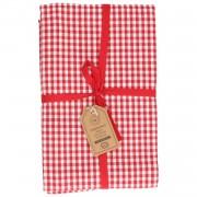Dille&Kamille Nappe, coton bio, rouge,à carreaux, 145 x 300 cm