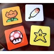 Super Mario World - Power-Ups Coaster 4-Pack