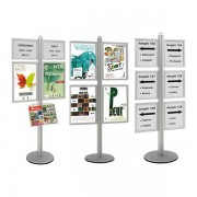Edimeta Info-Displays® double-face 8 x A4 sur pied