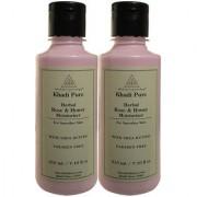 Khadi Pure Herbal Rose Honey Moisturizer with Sheabutter Paraben Free - 210ml (Set of 2)