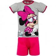 Disney Pyjama met korte broek Minnie Mouse met zonnebril grijs
