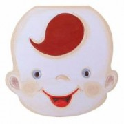 Cutie pentru pastrat dinti de lapte ombilic si suvita par pentru baieti din lemn pictata manual multicolor