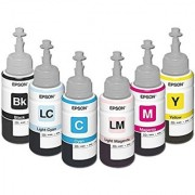 ORIGINAL 673 EPSON INK(C+M+Y+BK+LC+LM) FOR EPSON L800 PHOTO PRINTER(BOX PACKED)