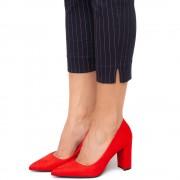 Pantofi dama Kaily cu toc inalt, Rosu 37