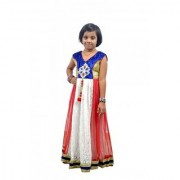 KIDZ GIRLS ETHNIC GOWNS FOR AGE OF 5 TO 12 YEARS AND ABOVE(BLUE GINZ)