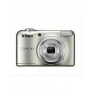 Nikon COOLPIX A10 digitale camera incl. beschermhoes, 16,1 MP, 2,3 inch CCD-Sensor, 4,6 – 23 mm, batterijwerking mogelijk, 4608 x 3456 Pixels, Zilver, DC, LCD Display