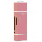 Card Reader iUni Lightning + MicroUSB OTG, Memorie Externa pentru dispozitive iOS si Android, Rose Gold